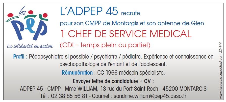 Chef de service medical le recruteur m dical - Ivry sur seine code postale ...