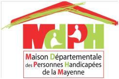 Logo Maison des personnes handicapées Mayenne (Maison Départementale du Handicap)